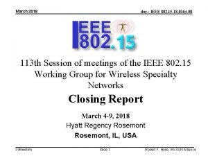 March 2018 doc IEEE 802 15 18 0164