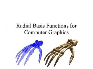 Radial Basis Functions for Computer Graphics Contents 1