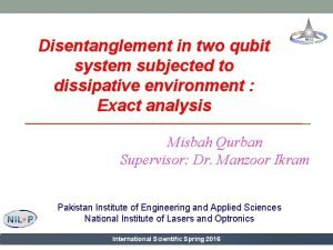 Disentanglement in two qubit system subjected to dissipative