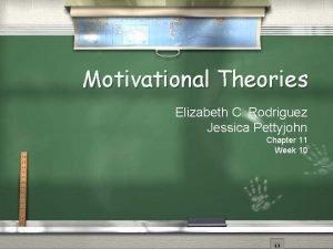 Motivational Theories Elizabeth C Rodriguez Jessica Pettyjohn Chapter