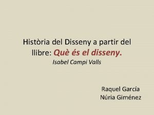 Histria del Disseny a partir del llibre Qu