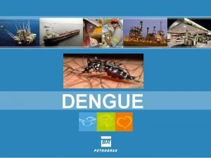 DENGUE A dengue um dos principais problemas de