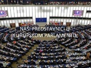NAI PREDSTAVNICI U EUROPSKOM PARLAMENTU Nikolina Buljan Matea