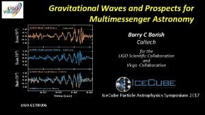 Gravitational Waves and Prospects for Multimessenger Astronomy Barry