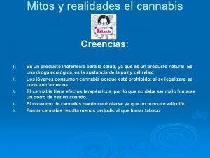 Mitos y realidades el cannabis Creencias 1 2