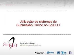 Utilizao de sistemas de Submisso Online no Sci