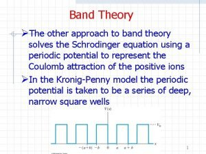 Band Theory The other approach to band theory