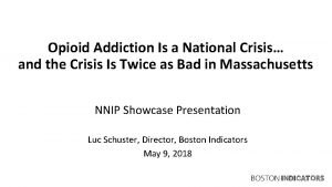 Opioid Addiction Is a National Crisis and the
