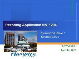 Rezoning Application No 1284 Gumwood Drive Scones Drive