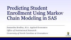 Predicting Student Enrollment Using Markov Chain Modeling in