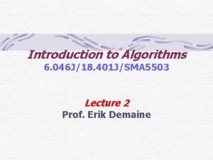 Introduction to Algorithms 6 046 J18 401 JSMA