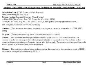 doc IEEE 802 15 10 0219 00 004