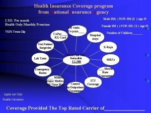 Health Insurance Coverage program from National Insurance Agency