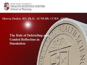 Sharon Decker RN Ph D ACNSBS CCRN ANEF