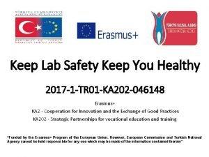 Keep Lab Safety Keep You Healthy 2017 1