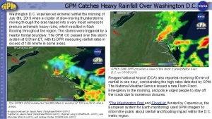 GPM Catches Heavy Rainfall Over Washington D C