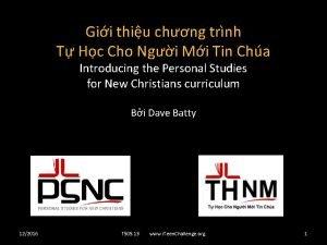 Gii thiu chng trnh T Hc Cho Ngi