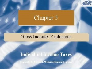 Chapter 5 Gross Income Exclusions Individual Income Taxes