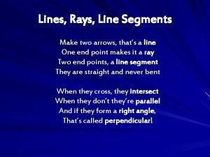 Lines Rays Line Segments Make two arrows thats
