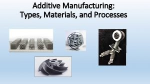 Additive Manufacturing Types Materials and Processes Additive Manufacturing