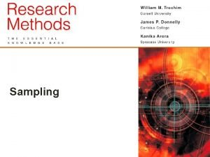 Sampling 4 1 Foundations of Sampling Sampling is