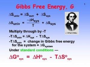 Gibbs Free Energy G Suniv Ssurr Ssys Multiply