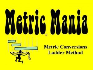 Metric Conversions Ladder Method Metric Staircase Ladder Method