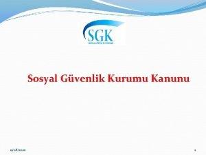 Sosyal Gvenlik Kurumu Kanunu 11282020 1 Sosyal Gvenlik