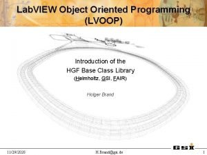 Lab VIEW Object Oriented Programming LVOOP Introduction of
