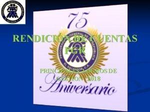 RENDICIN DE CUENTAS PGR PRINCIPALES LOGROS DE GESTION