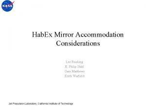 Hab Ex Mirror Accommodation Considerations Lee Feinberg H