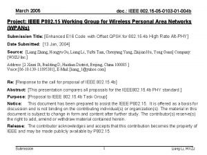 March 2005 doc IEEE 802 15 05 0103