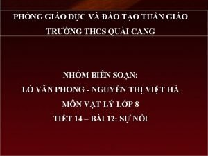 PHNG GIO DC V O TO TUN GIO