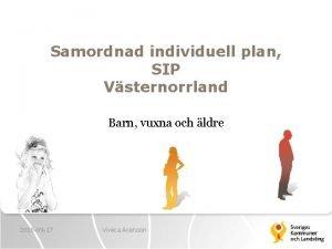 Samordnad individuell plan SIP Vsternorrland Barn vuxna och