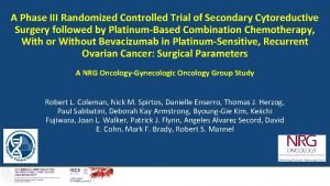 A Phase III Randomized Controlled Trial of Secondary