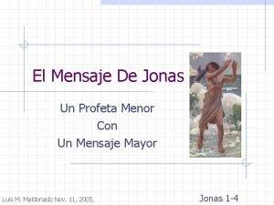 El Mensaje De Jonas Un Profeta Menor Con