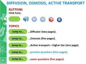 DIFFUSION OSMOSIS ACTIVE TRANSPORT BUTTONS Click here Clicking
