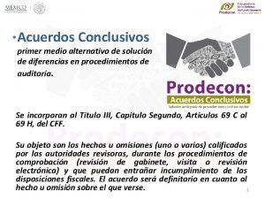 Acuerdos Conclusivos primer medio alternativo de solucin de