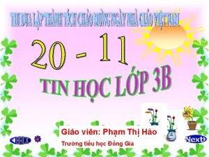 Gio vin Phm Th Ho Trng tiu hc
