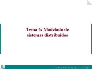 Tema 6 Modelado de sistemas distribuidos Modelado y