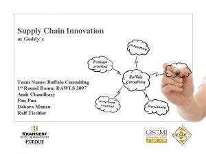 Supply Chain Innovation at Geddys Team Name Buffalo