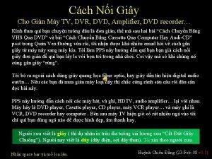 Cch Ni Giy Cho Gin My TV DVR