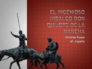 Christian Roque AP Espaol Naci en Alcal de