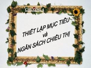 CHNG 4 MC TIU CHNG q q q