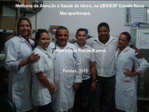 Melhoria da Ateno Sade do Idoso na UBSESF