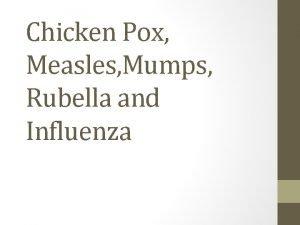 Chicken Pox Measles Mumps Rubella and Influenza MCQs