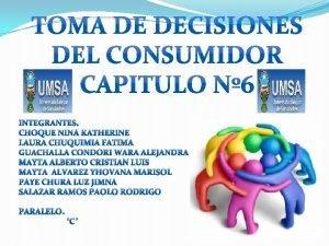 COMPORTAMIENTO DEL CONSUMIDOR EL COMPORTAMIENTO DE CONSUMIDOR DESCRIBE