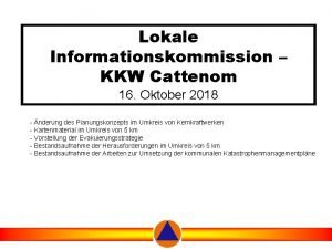 Lokale Informationskommission KKW Cattenom 16 Oktober 2018 nderung