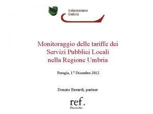 Monitoraggio delle tariffe dei Servizi Pubblici Locali nella