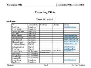 November 2012 doc IEEE 802 11 121322 r